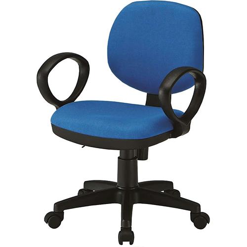 【送料無料】オフィスチェア FST-51AL ブルー(布)・グレー(レザー) ひじ掛けあり キャスター付 背面ロッキング機能 座面リフト調節機能 デスクチェア パソコンチェア ワークチェア 会社 教室 学習椅子 事務用椅子 チェア いす 椅子 藤沢工業 TOKIO FK-FST-51A
