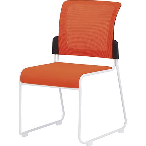 スタッキングチェア FK-MCR-2-V 幅495 奥行560 高さ813(座面高さ430mm) オレンジ グリーン ブルー TOKIO スタッキングチェアー 完成品 椅子 チェア FK-MCR-2-V
