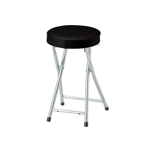 P-フォールディングスツール 幅300×奥315×高さ500mm ブラック 弘益 6脚セット 折り畳み機能 座面ロック機能 椅子 イス チェア 丸椅子 シンプル 弘益 KOEKI KE-PFC-SP50-6