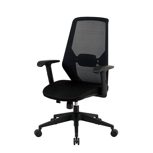 【送料無料】オフィスチェア(肘付) CKシリーズ01 ブラック ブルー グリーン 会議用チェア メッシュ張り 椅子 イス KE-CK01+CK01-AR