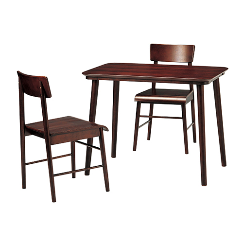 【送料無料】ロンド テーブル チェア 北欧 木製 人気 おしゃれ おすすめ モダン シンプル ナチュラル 天然木 木製 西海岸 リビング Cafe カフェ ワンルーム 二人暮らし コンパクト 新生活 ブラウン KE-DSRO-90-BR