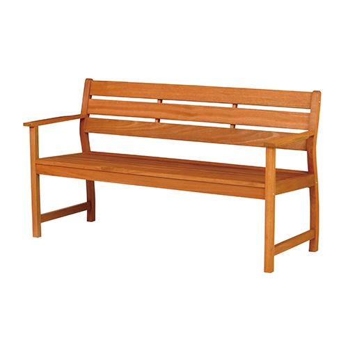 バラウベンチ背付 (幅1550×奥行580×高さ850×座面高425mm) ブラウン 弘益 ガーデンベンチ ウッドベンチ 長椅子 椅子 いす イス 天然木 木製 KE-MBA-1550B