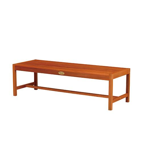 バラウベンチ 幅1500×奥行515×高さ440mm ブラウン KOEKI 背なし 天然木 チェア ベンチ 椅子 パラウッド KE-MBA-1500S