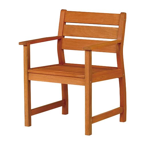 バラウアームチェア (幅635×奥行580×高さ850×座面高425mm) ブラウン 弘益 肘付き ガーデン 庭 椅子 イス チェア ガーデニング 屋外用 エントランス 木製 ナチュラル 天然木 公園 施設 エクステリア ウッド KE-MBA-63AC