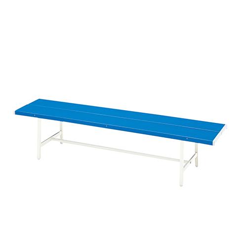 カラーベンチ 幅1506×奥行410×高さ400mm ブルー KOEKI 屋外 スポーツベンチ 屋外用ベンチ 椅子 業務用 KE-B-4-1500