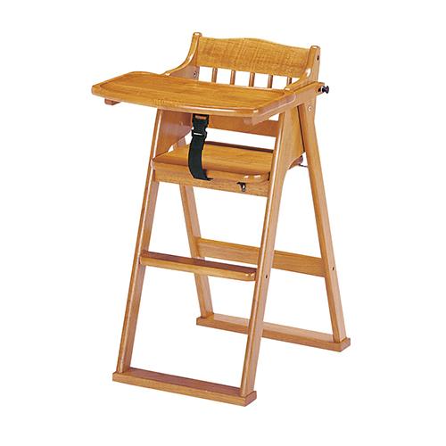 チャイルドチェア 幅480×奥行675×高さ800mm(座面の高さ515mm) ブラウン koeki テーブル付き 木製 天然木 安全 安心 安全ベルト 固定 チャイルド 幼児 椅子 イス 子供 子供部屋 幼稚園 保育園 スタッキング 折りたたみKE-CHC-480