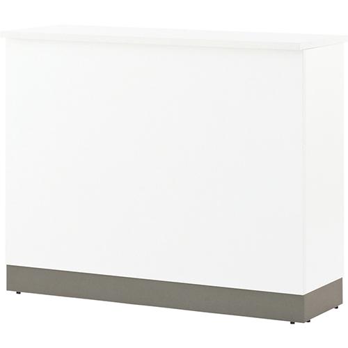 木製ベーシック ハイカウンター 幅1200×奥行450×高さ1000mm ホワイト ナチュラル RFヤマカワ ハイカウンター ハイカウンターテーブル ハイテーブル 受付カウンター 作業台 業務用 カウンターテーブル ワークベンチ 1432120