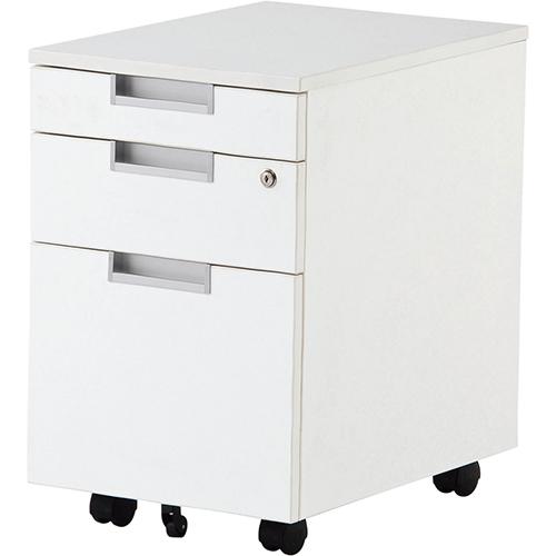 【送料無料】インサイドワゴン 選べる2色 ホワイト ナチュラル キャビネット デスク デスク収納 ワゴン 脇机 収納家具 オフィス収納 オフィス家具 オフィス用 オフィス用品 RF-RFCA