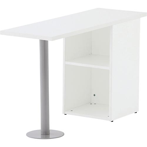 【送料無料】サイドテーブルW1200×D400 選べる2色 ホワイト ナチュラル デスク収納 サイドデスク 書類ワゴン ファイルワゴン インテリア・家具 オフィス家具 事務用デスク