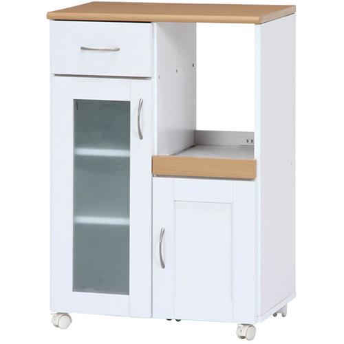 キッチンカウンター サージュ 幅60cm 幅600 奥行395 高さ890mm ホワイト/ナチュラル 不二貿易 カウンター キッチンワゴン 収納 食器棚 食器 棚 キッチン 引き出し ラック FB-96818