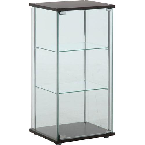 3段 幅42.5・高さ90cm 背面ミラー付き 不二貿易 ブラウン 97336 ガラスコレクションケース