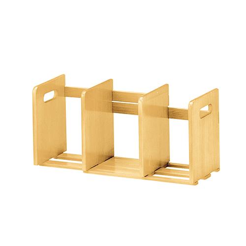 ブックスタンド スライド式 幅335-620×奥行180×高さ220mm ナチュラル ブラウン koeki 木製 卓上 伸縮 本立て ブックラック おしゃれ 本 ラック 収納 ブックラック KE-W-007-6