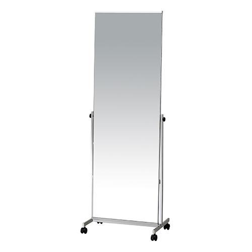 スタンドミラー 幅570 奥行360 高さ1585mm 弘益 ミラー 全身鏡 鏡 全身 キャスター KE-P-1126M