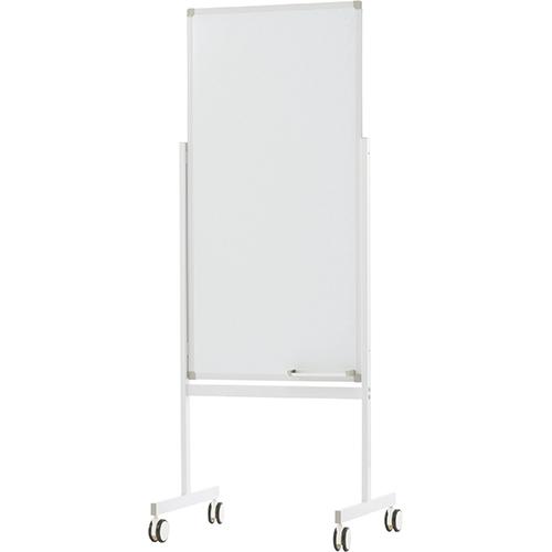 縦型ホワイトボード 600×1200 片面 案内板 掲示板 インフォメーションボード キャスター付き 白板 マグネット対応 スリム オフィス 会議室 エントランス R.F.YAMAKAWA アールエフヤマカワ RF-Z-SHWB-6012ASWH