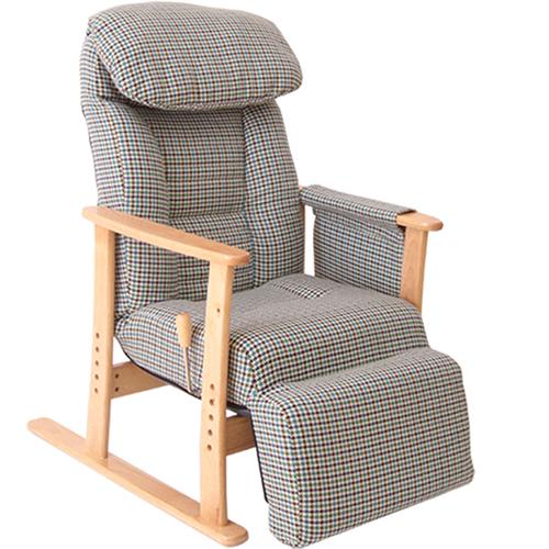 【梢】(こずえ)フットレスト付高座椅子 幅630 奥行800-1360 高さ970/1000/1030/1060 座面高さ380/410/440/470mm グリーン グレー ヤマソロ リクライニング ひじ掛け ポケットコイル おしゃれ 高座椅子 座椅子 YS-83-818 YS-83-835