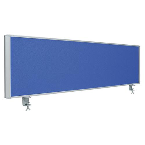 RDPシリーズ クロス デスクトップパネル W1400 ブルー 井上金庫 RDP-1400-BL パーテーション 衝立 ブラインド デスク用 デスクパネル スクリーン 仕切り 机上 コロナ対策