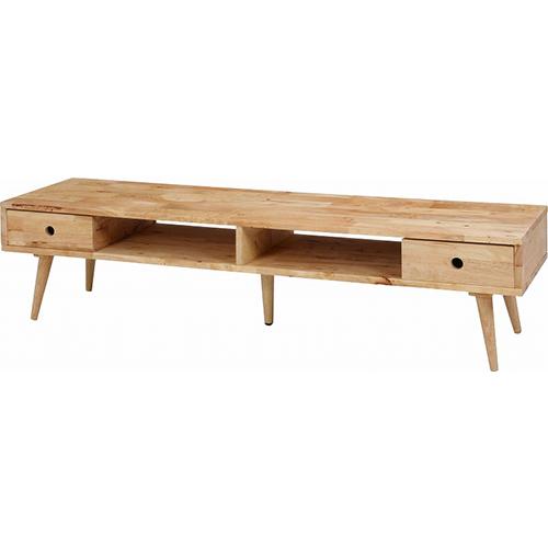 TVボード ナチュラル 幅1500 奥行400 高さ365mm ナチュラル 不二貿易 テレビ台 テレビボード 木 木製 木目 FB-37033