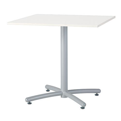 UTSシリーズ 会議用テーブル ホワイト脚 W750×D750角天板 ダークブラウン ナチュラル ホワイト 井上金庫 UTS-W750K 幅750 奥行750 高さ700 四角 四角テーブル ミーティングテーブル 会議テーブル 会議用テーブル