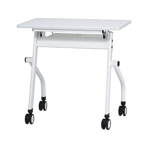 PNDシリーズ 平行スタックテーブル W750×D450 ホワイト ナチュラル 井上金庫 PND-7545 幅750 奥行450 高さ720 ミーティングテーブル 会議テーブル スタッキング 折畳み テーブル 収納