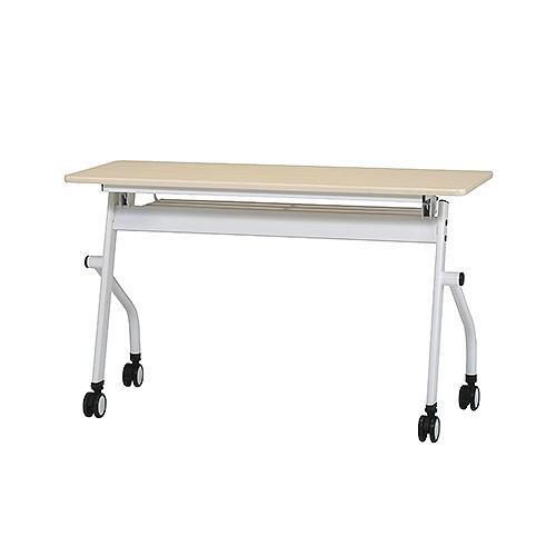 PNDシリーズ 平行スタックテーブル W1200×D450 ホワイト ナチュラル 井上金庫 PND-1245 幅1200 奥行450 高さ720 ミーティングテーブル 会議テーブル スタッキング 折畳み テーブル 収納