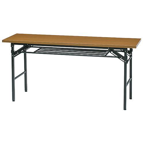 KMシリーズ 折畳テーブル W1500×D600 チーク ホワイト 井上金庫 KM-1560T 幅1500 奥行600 高さ700 ミーティングテーブル 会議テーブル スタッキング 折畳み テーブル 収納