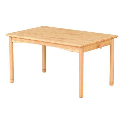 ファミリア キッズテーブル 幅900×奥行580×高さ440mm ナチュラル KOEKI シリーズ 家族 リビングテーブル 机 家具 天然木 木製テーブル キッズ 子育て かわいい サイズ別 子供家具 子供部屋 シンプル KE-FAM-T90