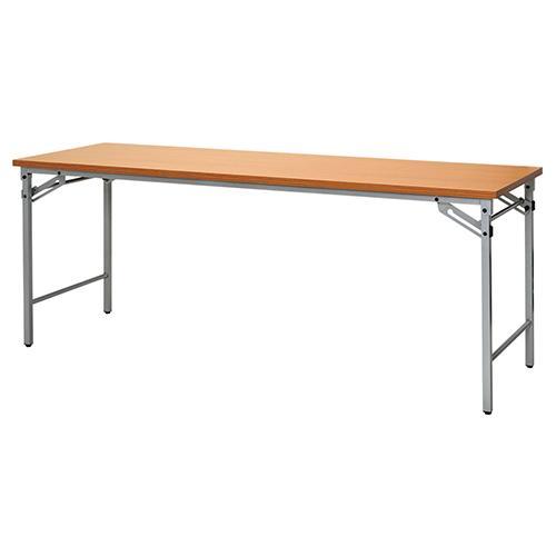 【送料無料】折りたたみテーブル ワイド脚タイプW1800×D0600 チーク 長机 会議テーブル フォールディングテーブル 折り畳み式 集シンプル ベーシック 会場 研修 RF-OSFTW-1860