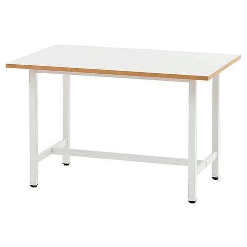 作業台W1500×D750 ホワイト作業テーブル ワークテーブル 仕事場 梱包台 RF-RFSGD-1275