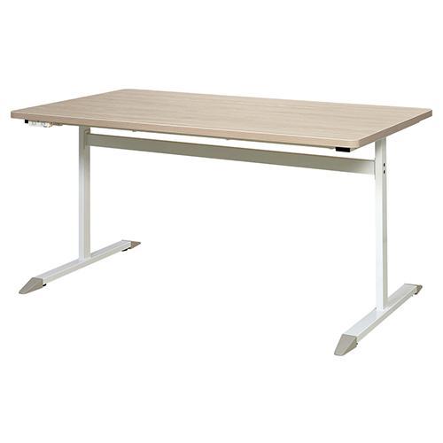 【送料無料】T字脚コンセント付きテーブル W1440×D800 ナチュラル ウォルナット ミーティングテーブル デスク 会議用テーブル 会議机 会議室 シンプル RF-RFCTB-1480-NC