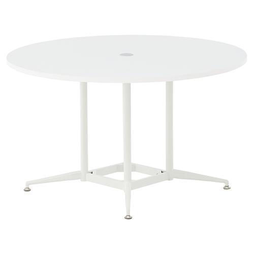 【送料無料】OAラウンドテーブルΦ1200 ホワイト ナチュラル 会議テーブル 会議用テーブル 商談 会議室 打ち合わせ 円形 丸型 リフレッシュテーブル RF-RFRDT-OA1200