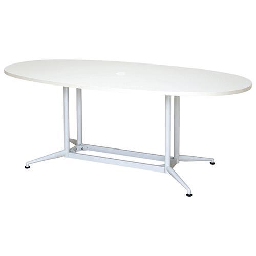 【送料無料】OAラウンドテーブルΦ1800 ホワイト ナチュラル 会議テーブル 会議用テーブル 商談 会議室 打ち合わせ 円形 楕円 リフレッシュテーブル RF-RFOVT-OA1890