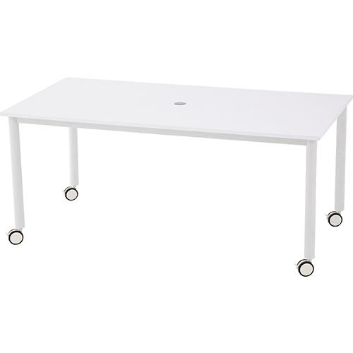 キャスターテーブル ホワイト脚 幅1600×奥行800×高さ700mm ホワイト ナチュラル RFヤマカワ ミーティングデスク ミーティングテーブル 会議用テーブル デスク テーブル ワークテーブル 作業台 RF-RFCTT-WL1680