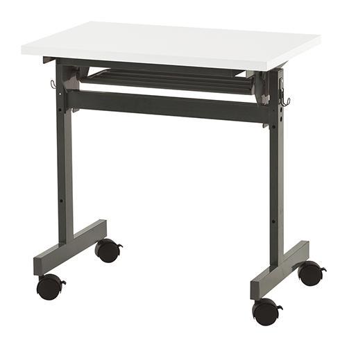 フォールディングテーブル4 幅700 奥行463 高さ700mm ホワイト RFヤマカワ 折りたたみテーブル 折り畳みテーブル 折りたたみ 折り畳み テーブル 高さ70 会議テーブル 会議用テーブル ミーティングテーブル キャスター RF-SHFT-0745-4WH