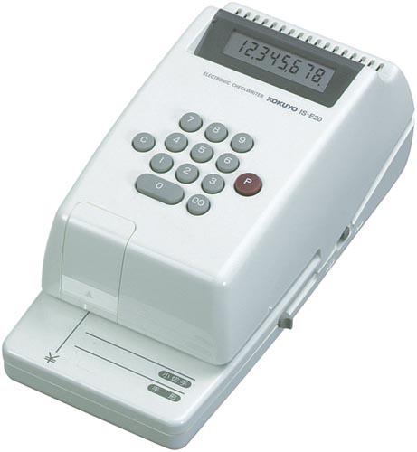 コクヨ KOKUYO コクヨS&T 電子チェックライター IS-E20 印字桁数8桁 チェックライター [IS-E20] [IS]