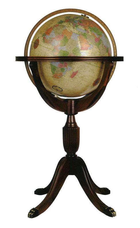 リプルーグル地球儀 エアールーム・シリーズ アドミラル型(英語版ブルーオーシャン地図)