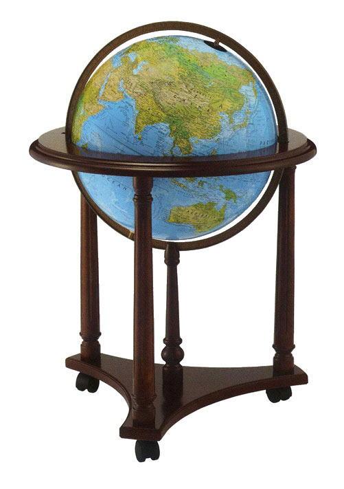 リプルーグル地球儀 エアールーム・シリーズラファイエット型(英語版ブルーオーシャン地図)