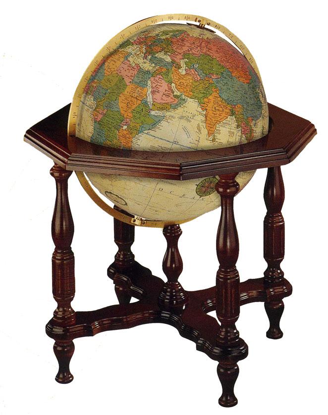 リプルーグル地球儀 エアールーム・シリーズ ステイツマン型(英語版アンティーク地図)