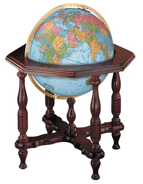 リプルーグル地球儀 エアールーム・シリーズ ステイツマン型(英語版ブルーオーシャン地図)
