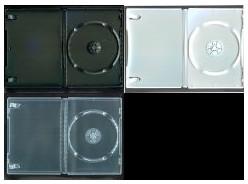 DVD トールケース 1枚収納 (良品質) 14mm 400枚 (100枚x4) BD DVD CD 収納