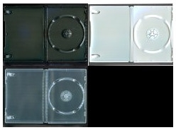 DVD トールケース 1枚収納 (良品質) 14mm 1000枚 (100枚x10) BD DVD CD 収納