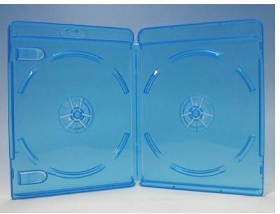 ブルーレイディスクケース 2枚収納 1000枚 Blu-rayロゴあり (ブルーレイケース Blu-rayケース (100枚x10))【4500円以上で送料無料】