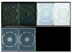 DVD トールケース DVDケース 2枚収納 14mm (良品質) 1000枚 (100枚x10) BD DVD CD 収納