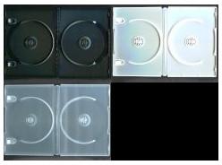 DVD トールケース DVDケース 2枚収納 14mm (日本製 高品質) 1000枚 (100枚x10) BD DVD CD 収納