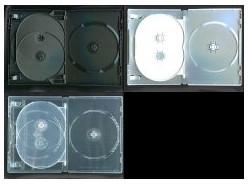 DVD トールケース 4枚収納 15mm 400枚 (100枚x4) BD DVD CD 収納