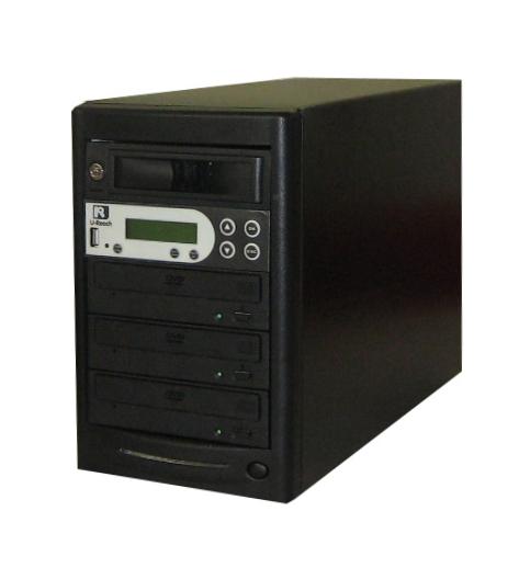 DVDデュプリケーター HDD搭載 ローエンドモデル(オフィスモデル) USBポート付 1:3 デュプリケーター専用マルチドライブ搭載