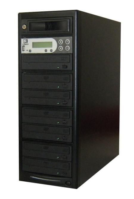 DVDデュプリケーター HDD搭載 ローエンドモデル(オフィスモデル) USBポート付 1:7 デュプリケーター専用マルチドライブ搭載