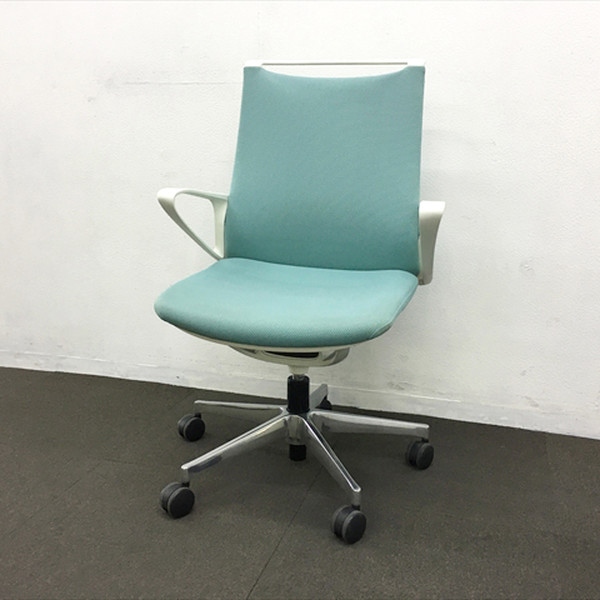 チェア チェアー セール特別価格 登場大人気アイテム オフィス 椅子 ゲーミング 事務椅子 腰痛予防 中古 モードチェア 5本脚 CA25BW ∴モードチェア IO-840701C クッションタイプ セージ オカムラ FSG7 ミドルバック