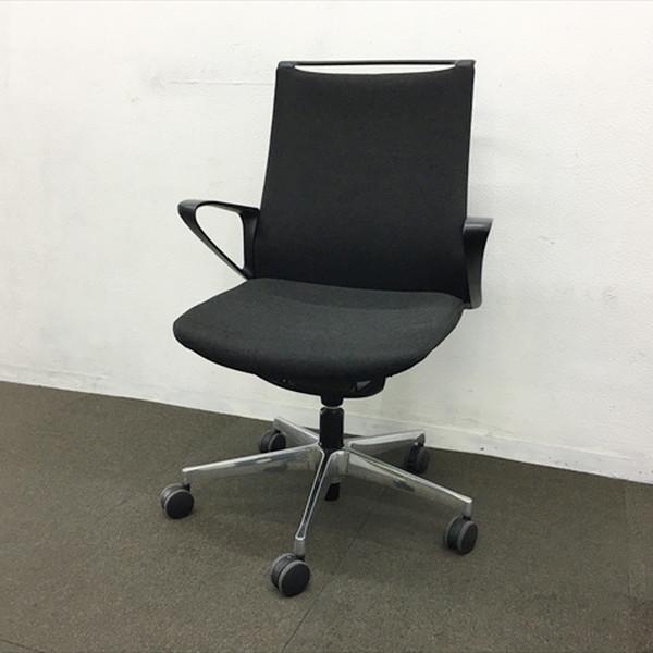 チェア チェアー オフィス 椅子 ゲーミング 事務椅子 腰痛予防 70%OFFアウトレット 中古 春の新作続々 モードチェア オカムラ ∴モードチェア IO-838888C CA25BR 5本脚 ミドルバック ブラック FWMJ