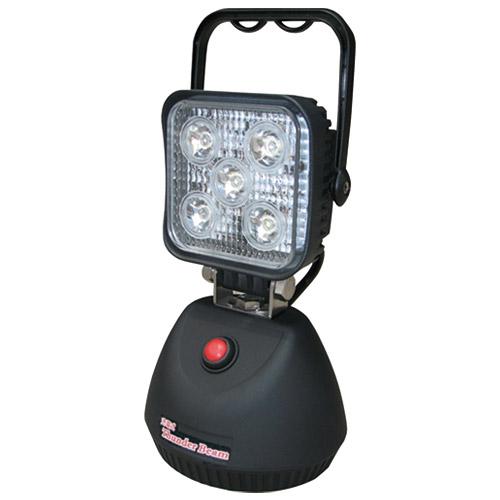 電源のとれない場所で大活躍のLED投光器 充電式サンダービーム LED-J15【熱田資材】