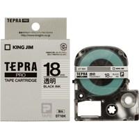 PROテープ ST18K-20 透明に黒字 18mm 20個【キングジム】